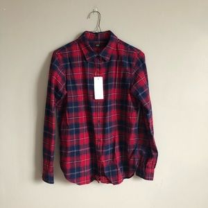 Uniqlo Flannel Plad Button Down (with tags)